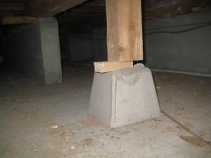 床下束が応急処置のままになっている